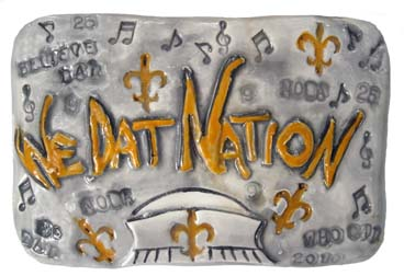 We Dat Plaque by Clay Creations